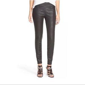 BLANKNYC Women Faux Leather Black Leggings Sz 29